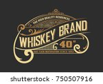Stock vector vintage old design whiskey label style 750507916