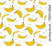 vitamin tasty bananas pattern.... | Shutterstock .eps vector #750513868