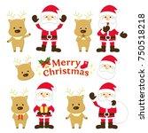 santa claus illustration | Shutterstock .eps vector #750518218