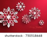 paper graphic of christmas... | Shutterstock .eps vector #750518668
