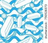 seamless pattern wagon vector... | Shutterstock .eps vector #750528373
