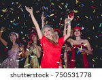 party woman enjoy dancing and... | Shutterstock . vector #750531778