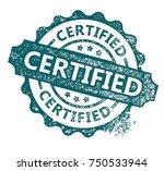 certified stamp | Shutterstock .eps vector #750533944