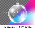 vector crystal clear christmas... | Shutterstock .eps vector #750534514