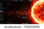 sun solar flare particles...