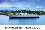 huge ferry leaving victoria... | Shutterstock . vector #750535720