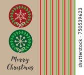 vintage christmas card | Shutterstock .eps vector #750539623