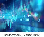 financial stock market graph on ... | Shutterstock . vector #750543049