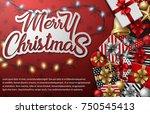 vector illustration of merry...   Shutterstock .eps vector #750545413