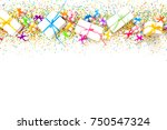 preparation for a birthday  a... | Shutterstock . vector #750547324