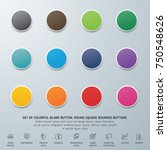 set of colorful blank button....