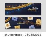 christmas banner  xmas... | Shutterstock .eps vector #750553018