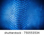 blue leather texture  use for... | Shutterstock . vector #750553534