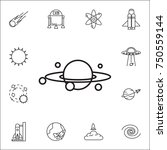 galaxy icon. set of space icons....   Shutterstock .eps vector #750559144