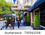 new york  usa. 28 october 2017. ... | Shutterstock . vector #750562258