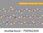 christmas lights isolated... | Shutterstock .eps vector #750562324
