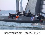 newport  ri   june 27  team... | Shutterstock . vector #750564124