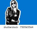 fashion collage in magazine... | Shutterstock . vector #750565564