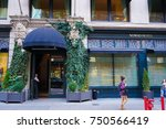 new york  usa. 28 october 2017. ... | Shutterstock . vector #750566419