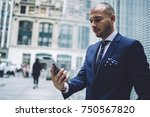 pensive male entrepreneur in... | Shutterstock . vector #750567820
