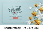 merry christmas sale background ... | Shutterstock .eps vector #750575683