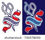 vector vintage barbershop... | Shutterstock .eps vector #750578050