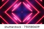 neon lights background | Shutterstock . vector #750580609