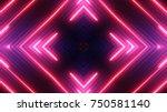 neon lights background | Shutterstock . vector #750581140