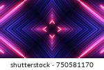 neon lights background | Shutterstock . vector #750581170