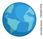 world planet earth icon   Shutterstock .eps vector #750587704