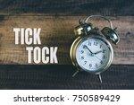 Tick Tock Day Concept   Golden...