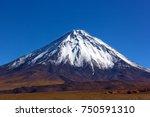 stratovolcano licancabur with...   Shutterstock . vector #750591310