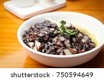 delicious black bean noodle | Shutterstock . vector #750594649