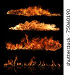 high resolution fire collection ... | Shutterstock . vector #75060190
