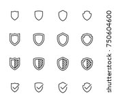 simple collection of shield... | Shutterstock .eps vector #750604600