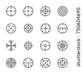 simple set of crosshair related ... | Shutterstock .eps vector #750604690