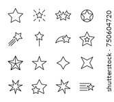 premium set of star line icons. ... | Shutterstock .eps vector #750604720