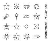 premium set of star line icons. ... | Shutterstock .eps vector #750604720