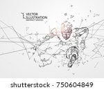 out of the connection people ... | Shutterstock .eps vector #750604849