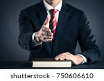 businessman and book studio... | Shutterstock . vector #750606610