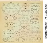 a set of vintage elements on a... | Shutterstock .eps vector #750609520