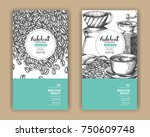 sketch drawing art for coffee... | Shutterstock .eps vector #750609748