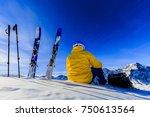 mountaineer backcountry ski...   Shutterstock . vector #750613564