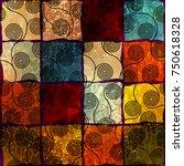 ethnic boho seamless pattern in ... | Shutterstock .eps vector #750618328