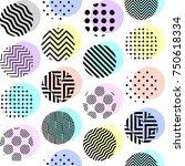 seamless background. polka dot... | Shutterstock .eps vector #750618334