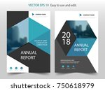 blue abstract hexagon brochure... | Shutterstock .eps vector #750618979