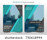blue abstract brochure annual... | Shutterstock .eps vector #750618994
