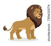 lion cartoon character. adult... | Shutterstock . vector #750620374