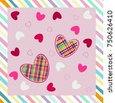 seamless pattern with hearts.... | Shutterstock .eps vector #750626410