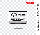 coding icon vector  coding in... | Shutterstock .eps vector #750628210